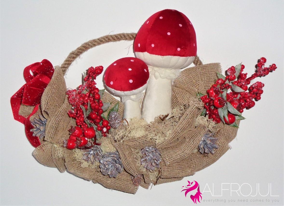 Ghirlanda Cestino con Funghi